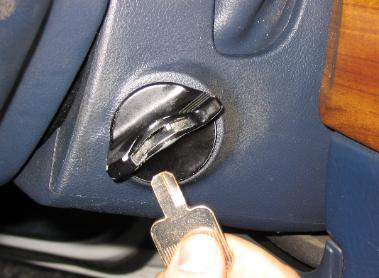 image of a car key broken off in the ignition lock