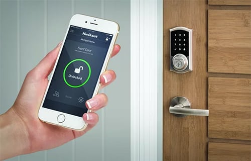 image of a Kwikset smartphone-operated smart lock